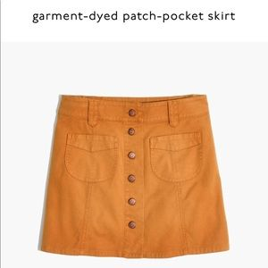Madewell Garment Dyed Patch Pocket Skirt.